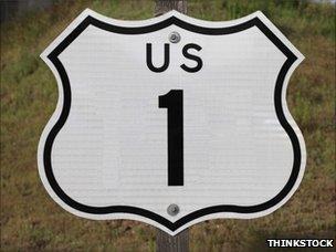 US generic road sign