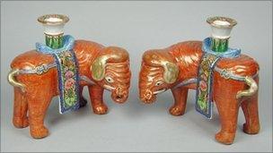 The stolen items included Canton elephant joss sticks