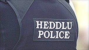 Back of police uniform