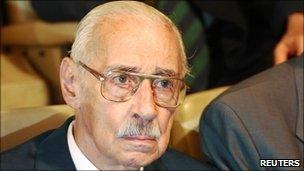 Jorge Videla in the courtroom