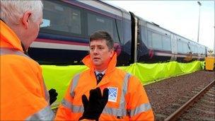 Keith Brown at train depot