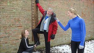 The fitness trail was opened by the mayor of Romsey