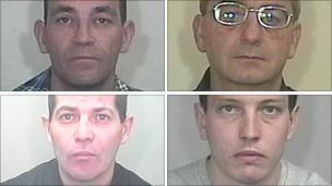 Clockwise from top left: Graham Lee; Robert Price; Andrew Lee; Scott Weaver