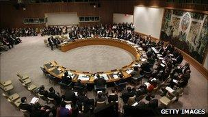 The UN Security Council meets to debate further lifting sanctions on Iraq, 15 December