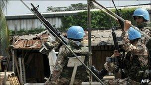UN troops in Abidjan, 25 Dec