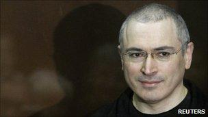 Mikhail Khodorkovsky awaiting today's verdict in the Moscow court