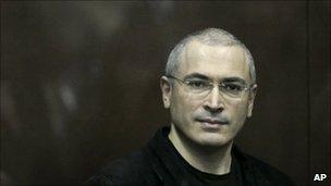 Mikhail Khodorkovsky in court in Moscow, 30 December