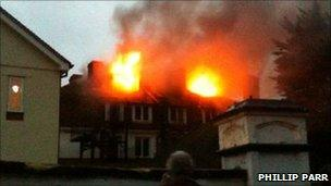 Fortfield Hotel fire. Pic: Phillip Parr