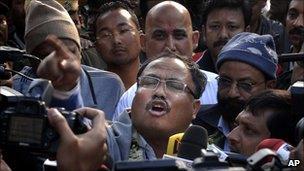 Assamese separatist leader Arabinda Rajkhowa on his release from jail (1 January 2011)