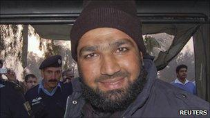 Malik Mumtaz Hussein Qadri, arrested in Islamabad (4 January 2011)