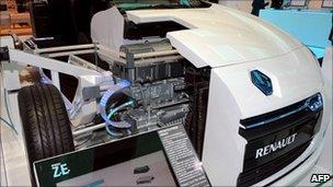 Renault's electric model Fluence ZE