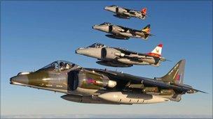 Harrier jets