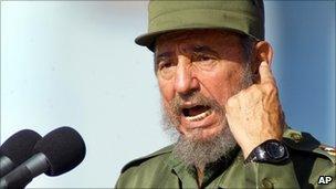 Fidel Castro in file photo from 2004