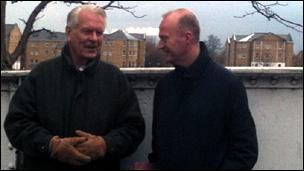 Lord Owen and Shaun Ley in Limehouse