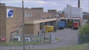 Burton's biscuit factory