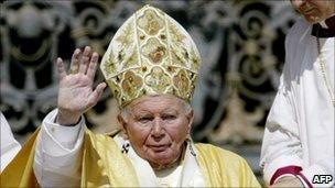 John Paul II on St Peter's Square, 18 May 2003