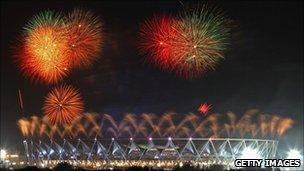 Delhi Commonwealth Games opening ceremony in October 2010