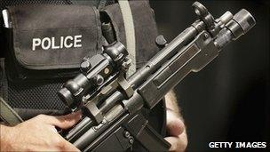 An armed officer