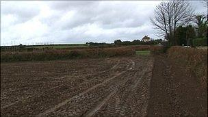 The field at the western end of Guernsey Airport's runway