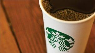 Cup of Starbucks coffee