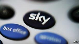 A Sky remote control