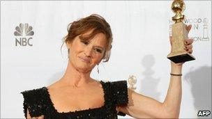 Melissa Leo at the Golden Globes