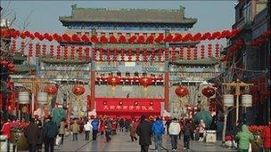 Qianmen's main street