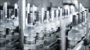 Bottling plant at Russian Standard vodka factory