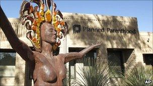 A planned parenthood clinic in Arizona