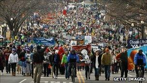 March for life in Washington DC
