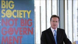 David Cameron delivers a speech at The Conservative Party Big Society conference, March 2010