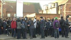 Pupils outside Villiers High School