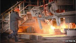 Copper smelter at Mount Isa Mine, Queensland, Australia