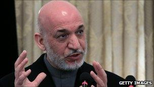 Afghan President Hamid Karzai - 8 February 2011