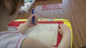 Child at nursery