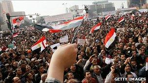Protest rally in Tahrir Square, Cairo