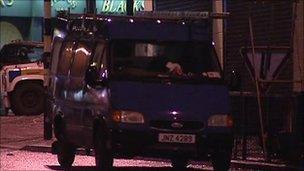 van at centre of security alert in north Belfast