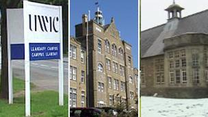UWIC, Swansea Metropolitan University and Trinity Saint David