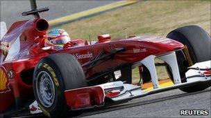 Massa drives his F150