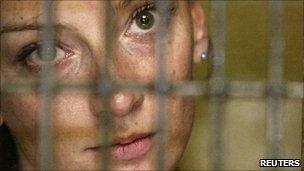 Florence Cassez behind bars, file picture