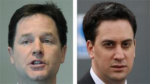 Nick Clegg and Ed Miliband