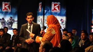 Debate at 1 TV studio in Kabul