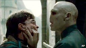 Harry Potter (left) and Voldemort
