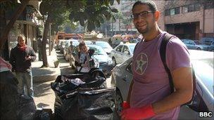 University researcher Rami Ali, Cairo (12 February 2011)
