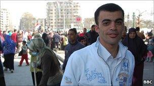 Tour guide Ahmed, Cairo (12 February 2011)