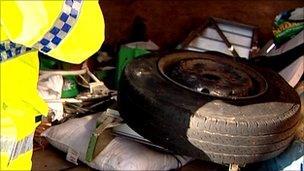 Police spot check in Morecambe