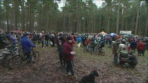 The protest in Chopwell Wood