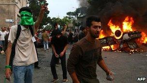 Protesters in Iran, June 2009
