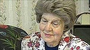 Joan Rendell MBE, pictured in 1998
