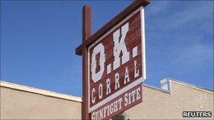 OK Corral sign